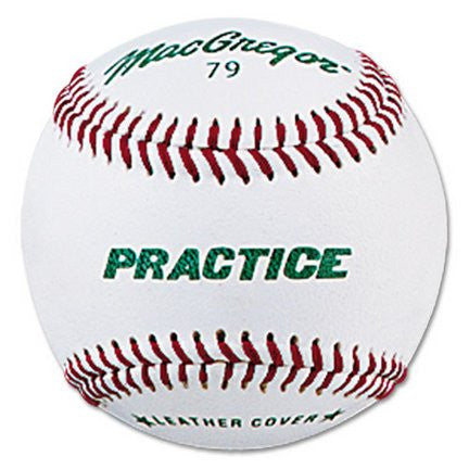 #79PY Synthetic Practice Baseballs from MacGregor® - 1 Dozen