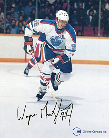 "* WAYNE GRETZKY * Edmonton Oilers rare vintage signed early 80's ""Gillette Canada"" photo"