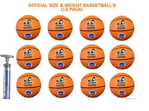 (LOT OF 12) Basketballs Official weight & size Bulk Wholesale