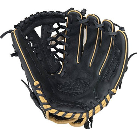 "12.5"" Fastpitch Softball Glove, Ooil-treated Steerhide Shell Leather, Black"