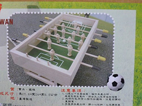 (Ship from USA) Mini Wooden Table Top Football - Come with Everything You need 1 (Assembling)