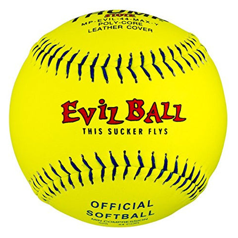 1 Dozen Evil Ball Trump MP-EVIL-44-MAX-Y 12 Inch 44 cor. 525+ comp Yellow Leather Cover