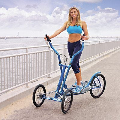 3i Indoor/Outdoor Elliptial Cross Trainer Color: Blue