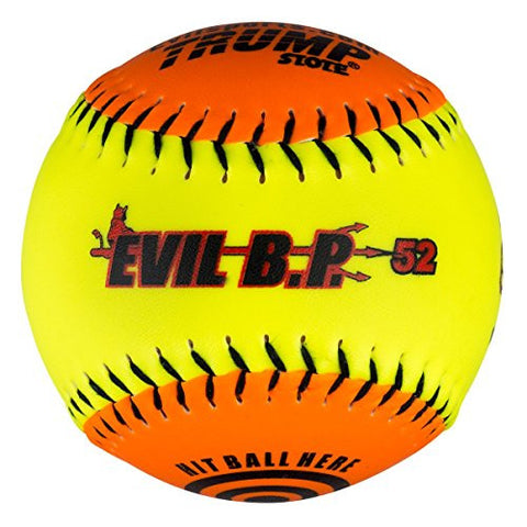 "1 Dozen Evil Bp 12"" Softballs - 52cor/.300 Compression AK EVIL BP52 12 Balls"