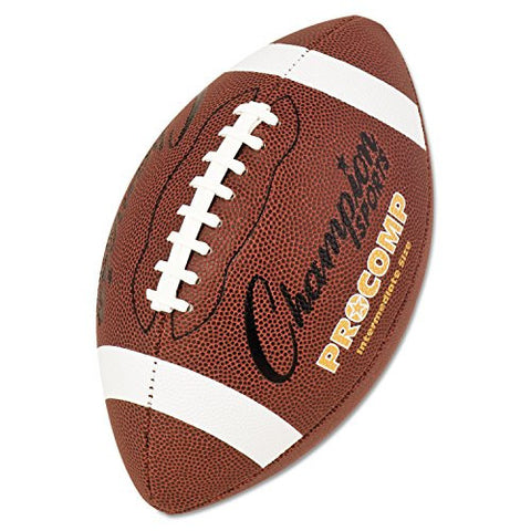 "* Pro Composite Football, Intermediate Size, 21"", Brown"