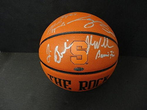 (11) Syracuse Greats Multi-Signed The Rock Basketball Autograph Auto - Steiner Sports Certified - Autographed College Basketballs