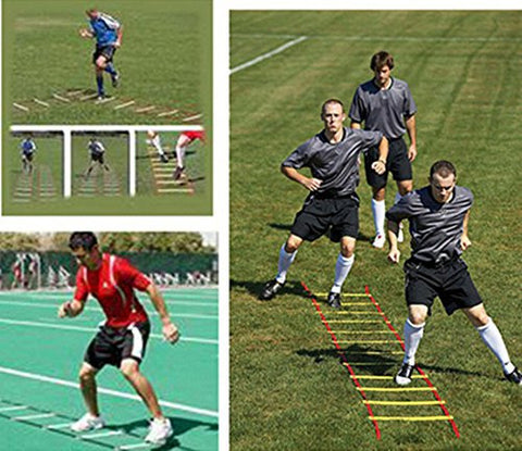 13 Rung 7M Speed Agility Ladder For Soccer Football Speed Fitness Training red