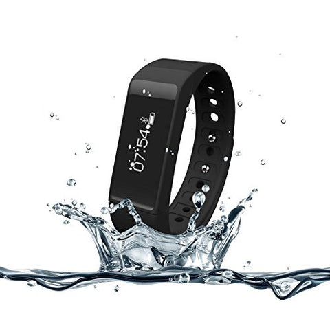 007plus T5 Plus Fitness Tracker Health Sleep Monitor Pedometer Activity Tracker Wristband (Black1)