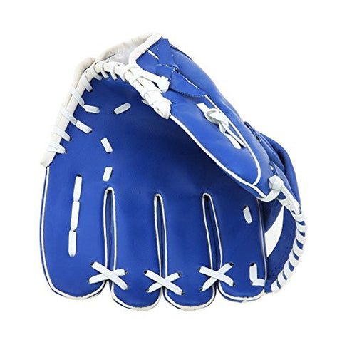 10.5'' Baseball Softball Glove Youth Mitts Outdoor Team Sports Left Hand Blue