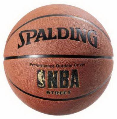 (2) ea Spalding Sports 63-249 Full Size NBA Street Outdoor Basketballs