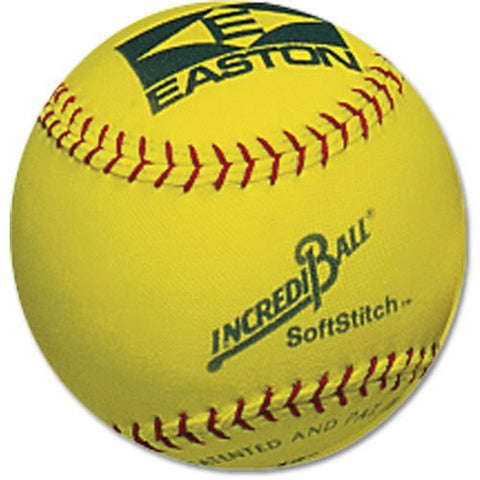 "(Price/DZN)Easton 12"" SoftStitch IncrediBall-Yellow"