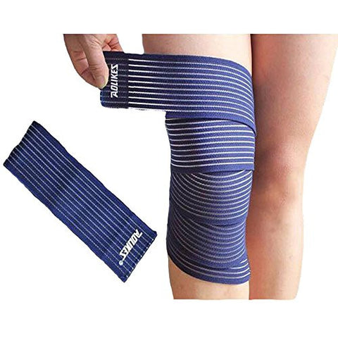 1 Pair(2 pcs) Best Knee Straps for Squats For Men & Women Outdoor Knee Wraps with Velcro for Cross Training Gym basketball,Workout,Weightlifting,Fitness & Powerlifting (Blue)