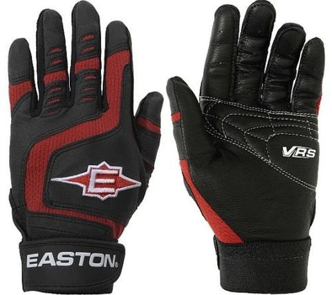 1 Pair Easton Black / Red Reflex Youth Medium Batting Gloves New in Wrapper!