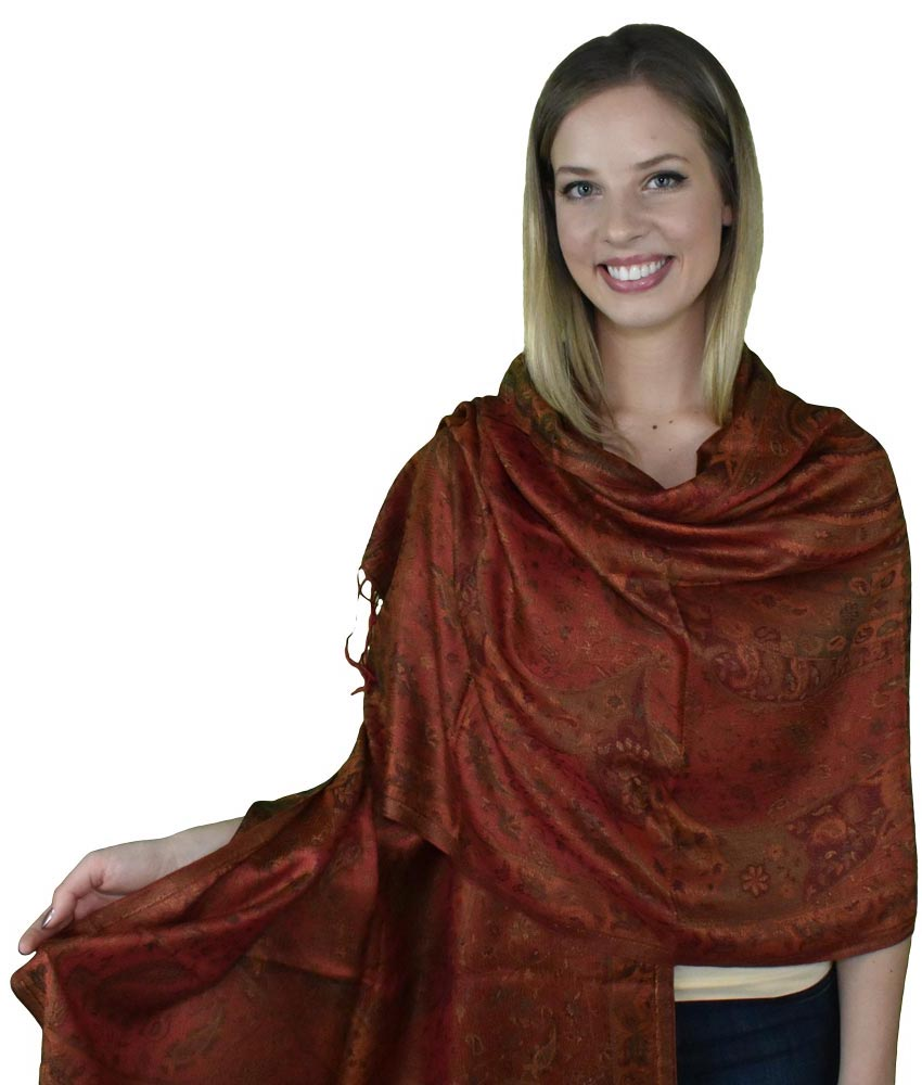 Crimson & Clover, Shawl- Diya Boutique Luxury Scarves and textiles