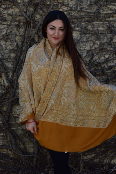 Golden Rod Blanket Shawl, Shawls- Diya Boutique Luxury Scarves and textiles