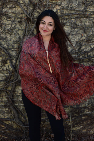Fire and Ice, Shawls- Diya Boutique Premium Scarf Boutique