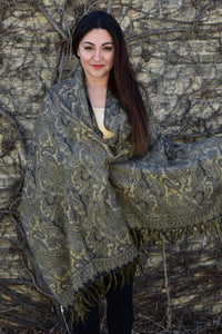 One with Nature, Shawls- Diya Boutique Luxury Scarves and textiles