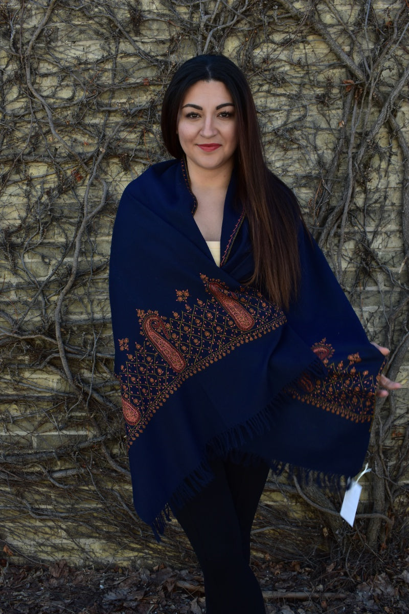 Ornamental, Shawls- Diya Boutique Luxury Scarves and textiles