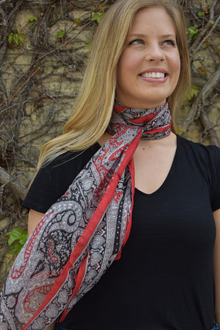 Silk Necktie Red, Neckties- Diya Boutique Premium Scarf Boutique