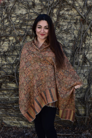 Fall Leaves (Pashmina Cashmere), Pashmina- Diya Boutique Premium Scarf Boutique