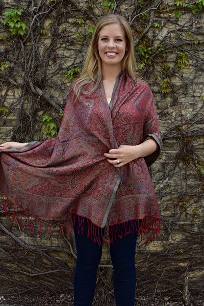 Iridescence, Shawl- Diya Boutique Luxury Scarves and textiles
