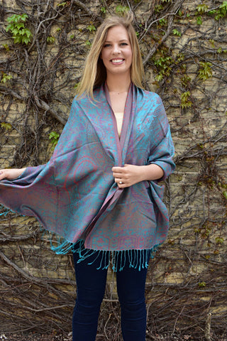 Sunset Sky, Shawl- Diya Boutique Luxury Scarves and textiles