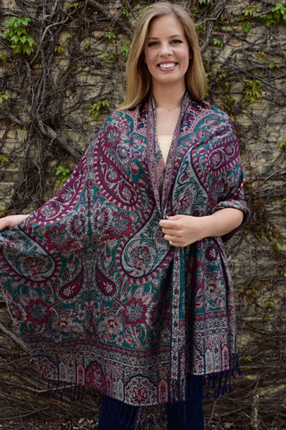 Secret Garden, Shawl- Diya Boutique Luxury Scarves and textiles