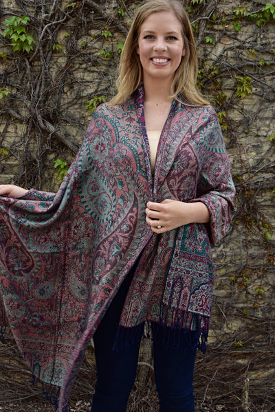 Secret Garden, Shawl- Diya Boutique Premium Scarf Boutique