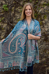 Spring, Shawl- Diya Boutique Luxury Scarves and textiles