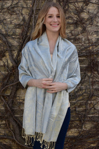 Powder Blue, Shawl- Diya Boutique Luxury Scarves and textiles
