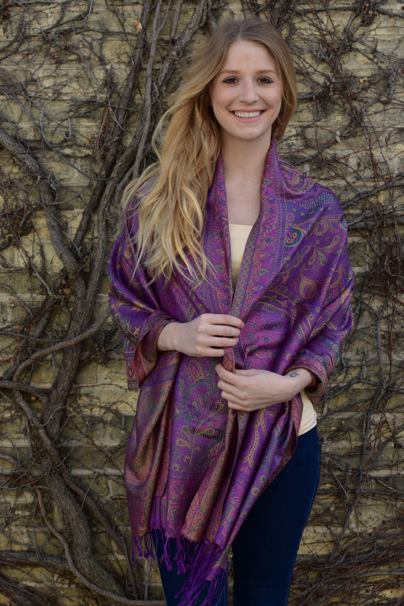 Gems of Royality, Shawl- Diya Boutique Luxury Scarves and textiles