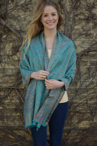Great Barrier Reef, Shawl- Diya Boutique Luxury Scarves and textiles