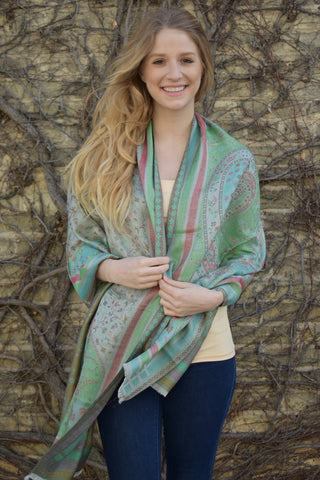 Tuscan Afternoon, Shawl- Diya Boutique Luxury Scarves and textiles
