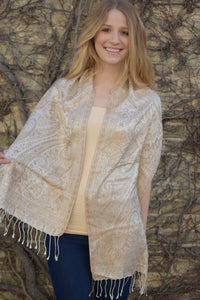Biscoff, Scarf- Diya Boutique Luxury Scarves and textiles