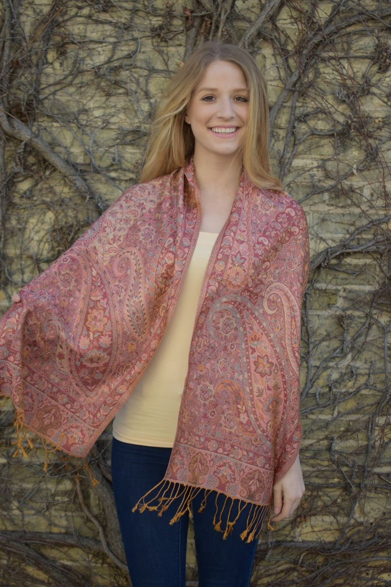 Eastern Blossoms, Scarf- Diya Boutique Premium Scarf Boutique