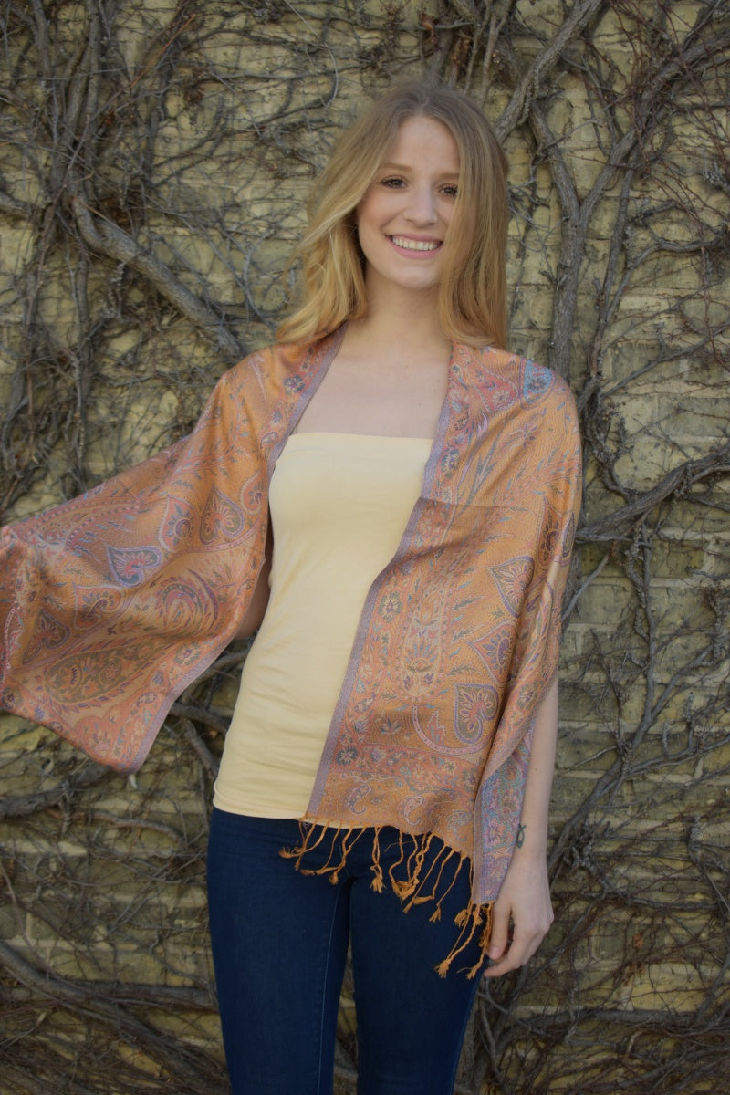 Persimmon, Scarf- Diya Boutique Premium Scarf Boutique