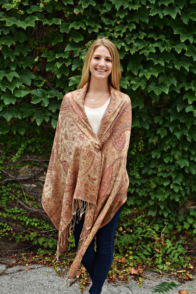 Fallen Leaves, Shawl- Diya Boutique Premium Scarf Boutique