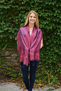 Rose and Denim, Scarf- Diya Boutique Premium Scarf Boutique