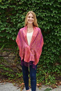Chartreuse and Magenta, Scarf- Diya Boutique Premium Scarf Boutique