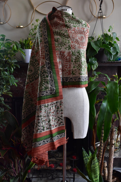 Tribal Rituals, Shawl- Diya Boutique Luxury Scarves and textiles