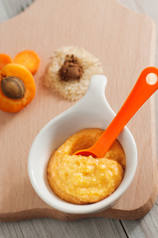 Baby First Foods Six Months Old Apricot, Carrot & Nutmeg Rice Porridge