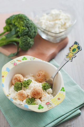 Fish Broccoli Cottage Cheese Little Mashies