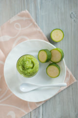 Zucchini baby food puree