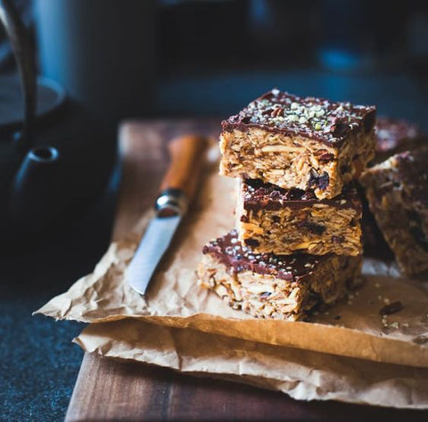 Tart Cherry, Chocolate + Hemp Seed No-Bake Oat Bars