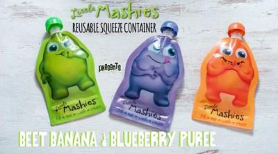 Banana Beetroot And Blueberry Baby Food Pouch Puree