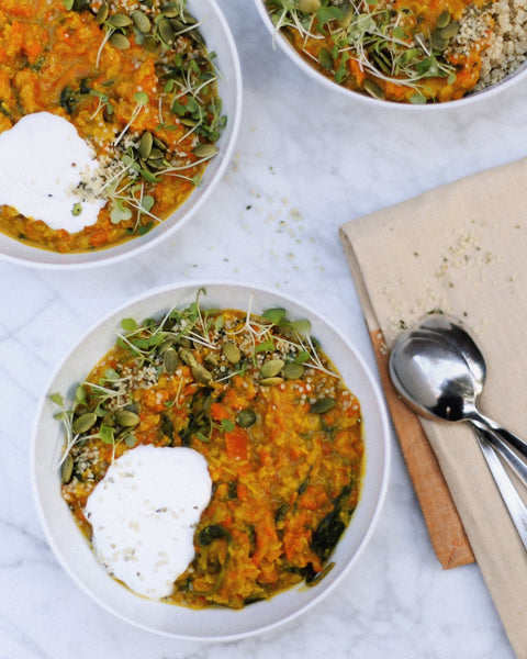 LOW FODMAP CARROT DHAL