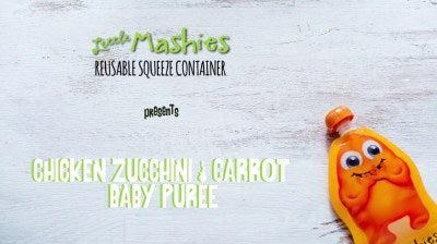 Chicken Carrot And Zucchini Baby Food Pouch Puree