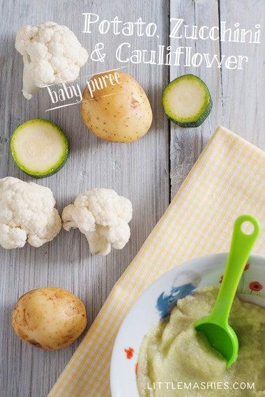 Potato zucchini and cauliflower baby puree little mashies potato zucchini and cauliflower baby puree forumfinder Choice Image