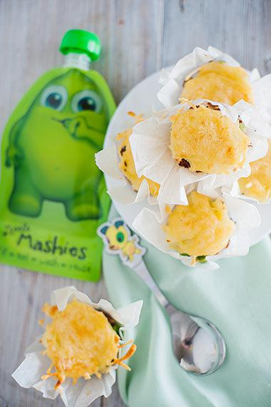 Shepards Pie Cupcakes from Little Mashies reusable food pouches. For free recipe ebook go to Little Mashies website or Amazon