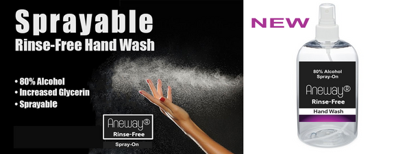 Rinse free spray on hand wash sanitizer